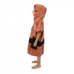 Poncho surf enfant - 6 à 9 ans all in rose marron