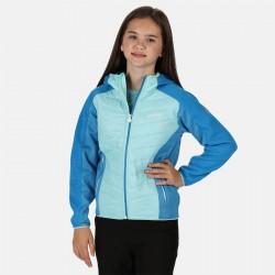 Veste deperlante enfant- Kielder Hybrid - Regatta - turquoise - fille