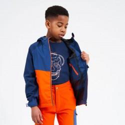 Veste imperméable et respirante enfant - In the Lead II - orange et bleu