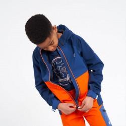 Veste imperméable et respirante enfant - In the Lead II - bleu orange