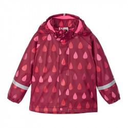 Raincoat Koski - 100% waterproof et doublé polaire - Reima - Jam Red
