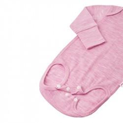 Body en laine merinos - Manches longues - Reima - rose