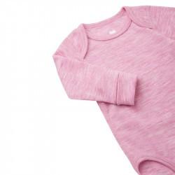 Body en laine merinos - rose - Reima