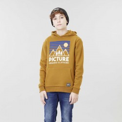 Picture Organic Clothing - sweat a capuche ocre