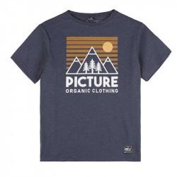 T-shirt garçon Fasty Tee - Picture Organic Clothing - Dark Blue Melange - 2022