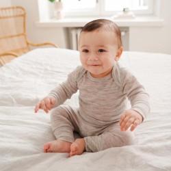 Body en laine merinos - bébé - gris