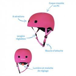 Micro - casque vélo enfant - rose framboise