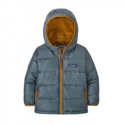 Doudoune enfant Baby Down Sweater Hoody de Patagonia - Plume grey - 2022