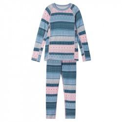 Sous-vêtements thermique enfant en laine et bambou - Taitoa - Reima - Foggy blue - 2022