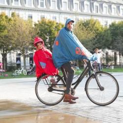 Poncho de pluie enfant Fulap Jr - Spad de Ville - Bleu et rouge