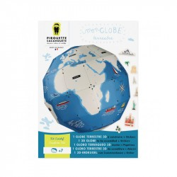Kit Créatif Globe terrestre - Pirouette Cacahouète