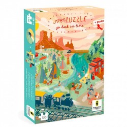 Puzzles Go Back in time - Far west - Pirouette Cacahouète