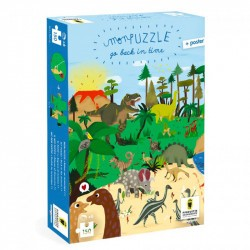 Puzzles Go Back in time - Dinosaures - Pirouette Cacahouète