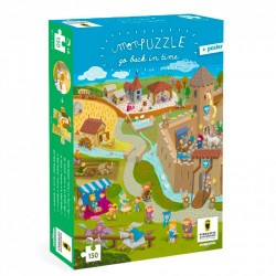 Puzzles Go Back in time - Moyen Age - Pirouette Cacahouète