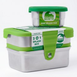 3 in 1 Splash Box - Bento inox - ECOlunchbox