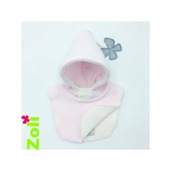 Capuchon bébé Zoli - Rose Clair Ecru