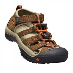 Sandales de randonnée enfant - Keen Newport H2 - Dark Earth / Spicy Orange