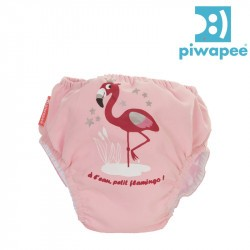 Maillot de bain couche clipsable  Swim+ Piwapee - Flamingo/Rose Poudrée