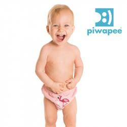 Maillot de bain couche clipsable  Swim+ Piwapee - Flamingo/Rose Poudrée