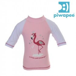 Top lycra bébé anti-UV Piwapee - Flamingo