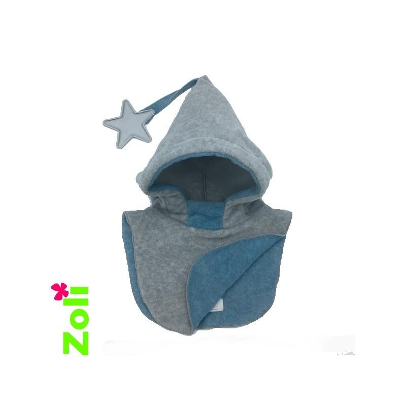 Capuchon enfant Zoli - Gris/Bleu-Gris