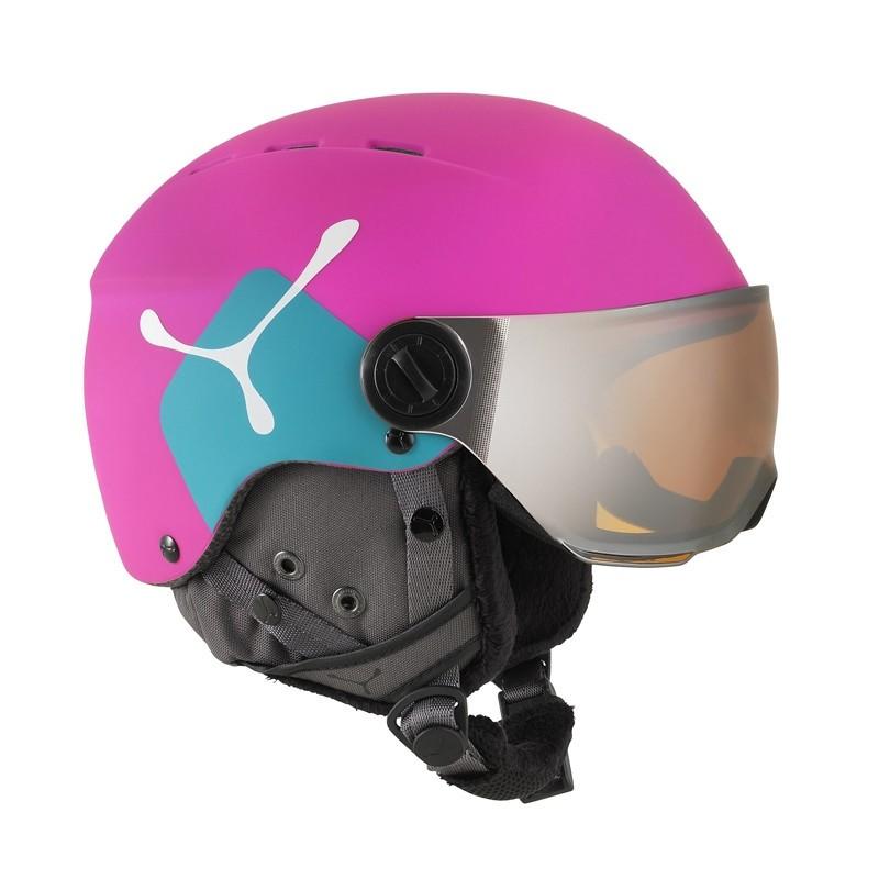Casque Cébé Fireball Junior avec visière - Rose/Bleu