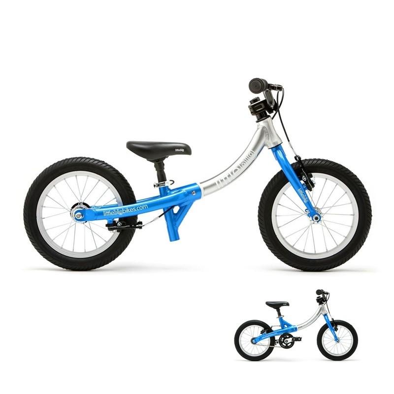 Draisienne évolutive en vélo - Little Big Bike - Bleu