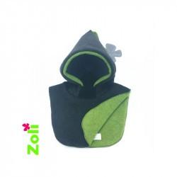 Capuchon bébé Zoli - Nature - Anthracite / Vert