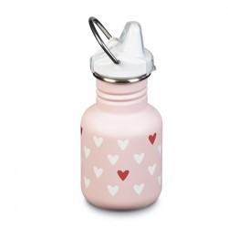 Kid Kanteen 350 ml en Inox - bouchon Sippy - Milenial Hearts / Pink Mat