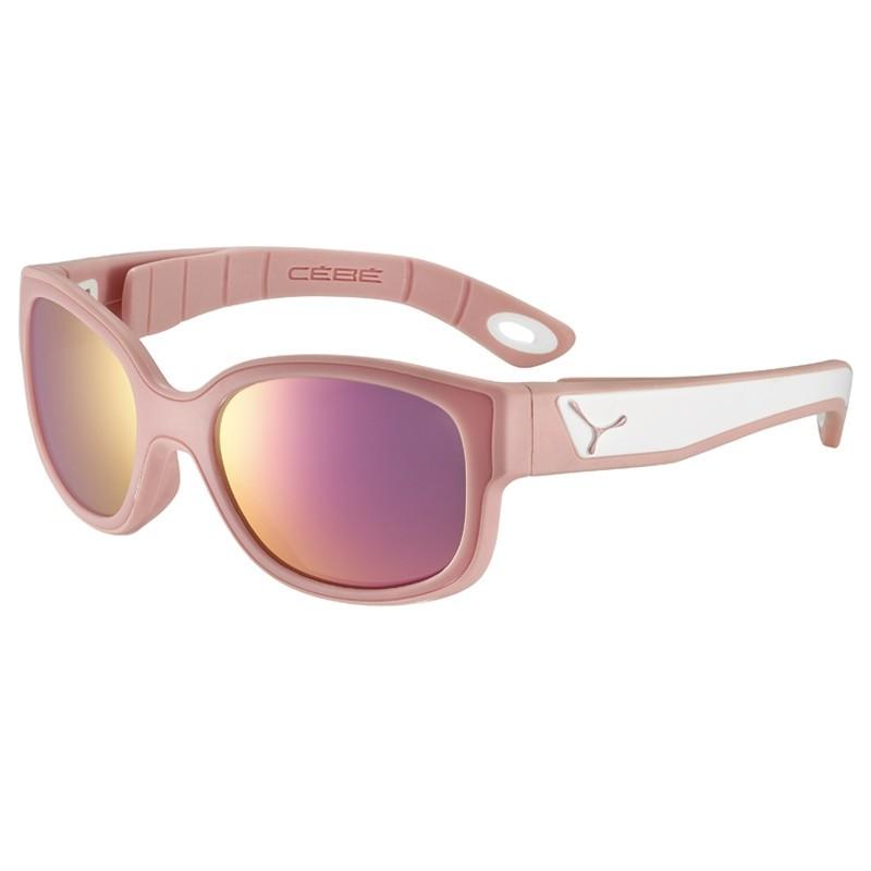Lunette soleil enfant Cébé Spies - Matte Pink Powder White - 3 - 6 ans