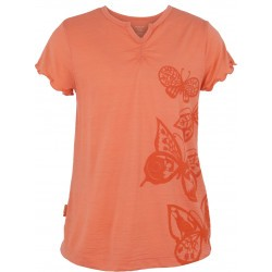 Tee-shirt Mérinos Icebreaker fille - Moxie Butterflies