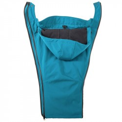 Veste de portage softshell Mamalila - bleu pétrole