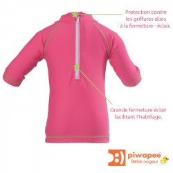 Top lycra bébé anti-UV Piwapee - Rainette