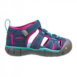 Sandales de marche bébé - Keen Seacamp - Poseidon - Very berry