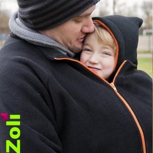 Capuchon enfant Zoli - Gris et Bleu-gris