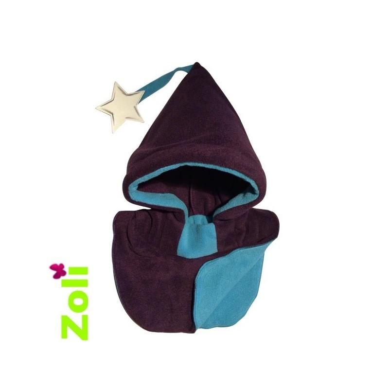 Jambières bébé de portage en laine Pololo - Bleu Clair, bleu foncé