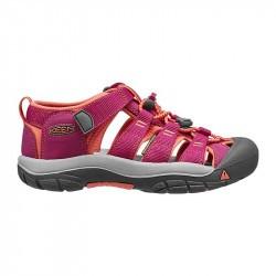 Sandales de marche fille - Keen Newport H2 - Framboise et corail