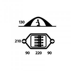 Casquette anti-uv bébé - Buff - 45-51cm - Sweatest aqua