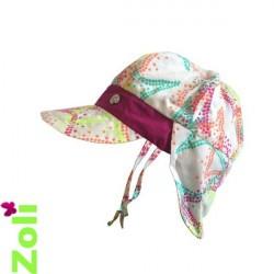 Chapeau de soleil bébé et enfant de Zoli - Fluo dots