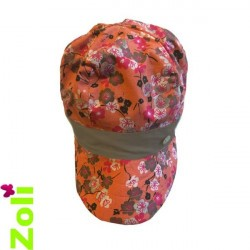 Chapeau de soleil bébé et enfant de Zoli - Sakura et taupe