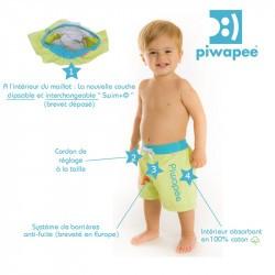 Short de bain couche clipsable Swim+ Piwapee