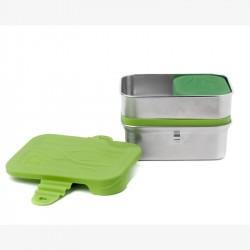 3 in 1 Splash Box - Bento inox - ECOlunchbox