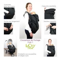 Couverture de portage Lucky : portage, poussette et siège auto