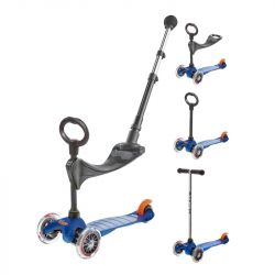 Trottinette évolutive Micro mini 3 en 1 push - Dès 1 an - Bleu