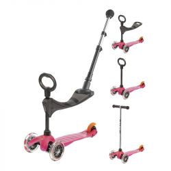 Trottinette évolutive Micro mini 3 en 1 push - Dès 1 an - Rose
