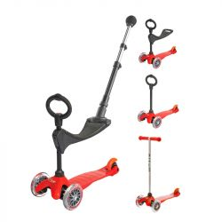 Trottinette évolutive Micro mini 3 en 1 push - Dès 1 an - Rouge
