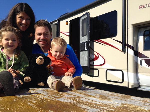 Camping car et enfant