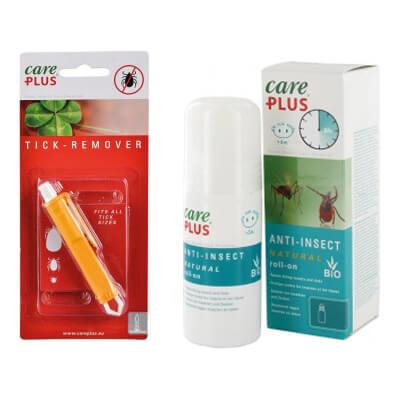 produits anti-insectes et pince à tique pour les sorties nature en famille