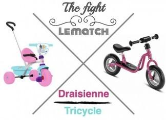 choisir entre draisienne ou tricycle