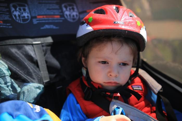 Casque enfant remorque vélo